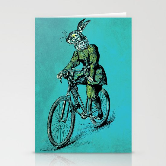 The Bicycle Bunny Stationery Card