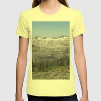 Pyramid Peak Womens Fitted Tee Lemon SMALL