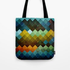 Abstract Cubes BYG Tote Bag