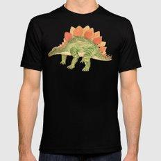 Stegosaurus SMALL Mens Fitted Tee Black