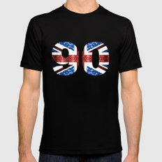Sparkly flag of United Kingdom UK number 90 Mens Fitted Tee SMALL Black