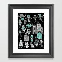 Wow! Ghosts!  Framed Art Print