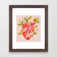 Fridas heart Framed Art Print