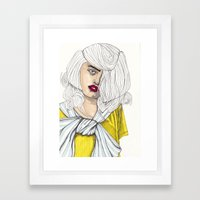 Fashion Illustration - Patterns and Prints - Part 4 Framed Art Print