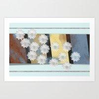 Floral Card Art Print