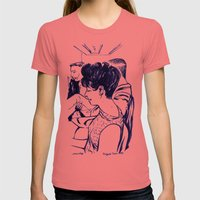 Lady In Waiting.  Womens Fitted Tee Pomegranate SMALL