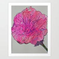 Pink Abstract Flower Art Print