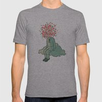 Pixel Boy Mens Fitted Tee Athletic Grey SMALL