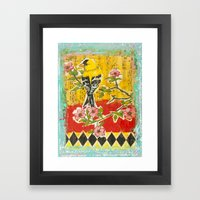 Goldfinch on Dogwood Framed Art Print