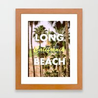 Long Beach, California V.R. Framed Art Print