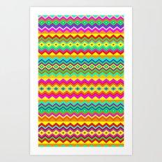 Aztec Summer colors Beach Towel Art Print
