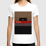 Captain Sisko - Minimali… Womens Fitted Tee White SMALL