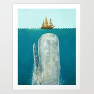 Art Print featuring The Whale  by Terry Fan