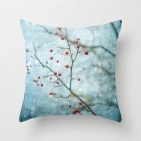 Snowberry Throw Pillow