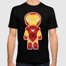 Chibi Iron Man Mens Fitted Tee Black SMALL