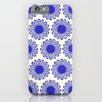 vintage flowers blue  iPhone 6 Slim Case