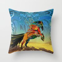 The Wind Of Time (Red Ho… Throw Pillow
