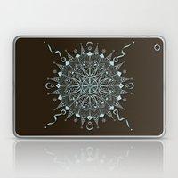 Aqua Leaf Star Mandala Laptop & iPad Skin