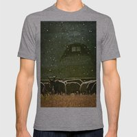 Sheep. Mens Fitted Tee Athletic Grey SMALL