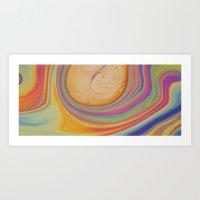 Caramel And Pastel Swirl… Art Print