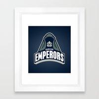 DarkSide Emperors -Blue Framed Art Print