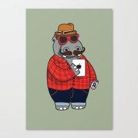 Hipposter Canvas Print