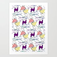 Structured Geometric Art Print