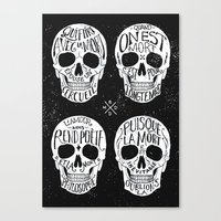 Skulls & Quotes Canvas Print