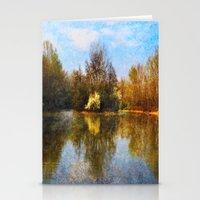 Autumn Lake Stationery Cards