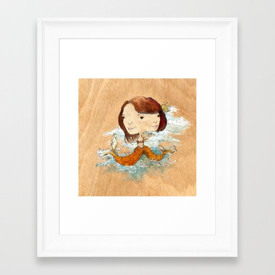 double you waves Framed Art Print