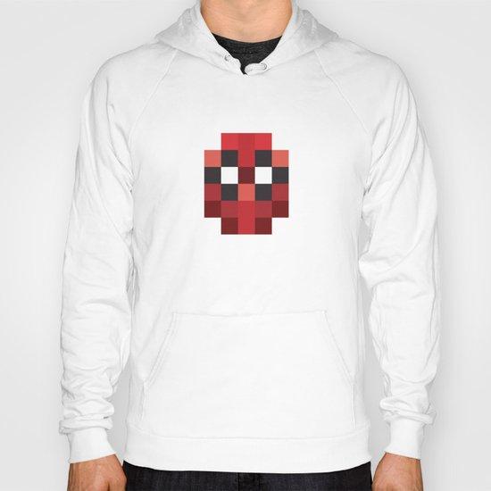 hero pixel red blue Hoody