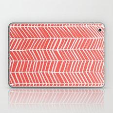 Coral Herringbone Laptop & iPad Skin
