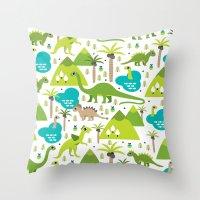 Dinosaur Illustration Pa… Throw Pillow