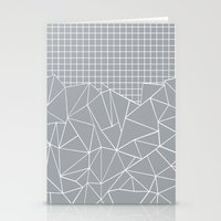 Abstract Outline Grid Gr… Stationery Cards