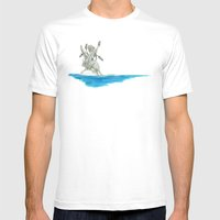 Dormouse in an island Mens Fitted Tee White SMALL