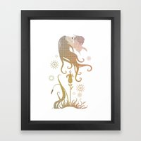 Blinded by selfishness Framed Art Print