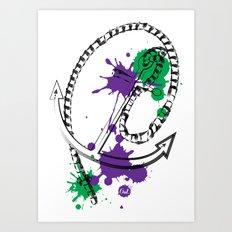 out anchor Art Print