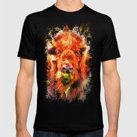 Jazzy Buffalo Colorful Animal Art by Jai Johnson Mens Fitted Tee Black SMALL