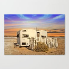 Ghost Town Trailer Park Canvas Print