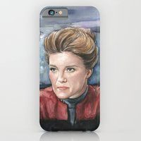 iPhone Cases featuring Captain Kathryn Janeway  by Olechka