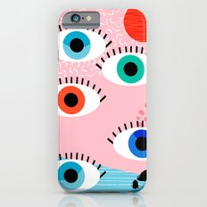 Noob - eyes memphis retro throwback 1980s 80s style neon art print pop art retro vintage minimal Slim Case iPhone 6s