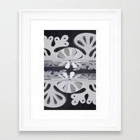 Paper Cut Double Dream Framed Art Print