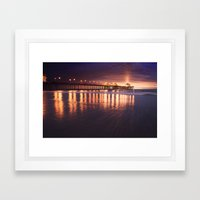 Huntington Beach Sunset Framed Art Print