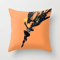 Emberwitch Throw Pillow