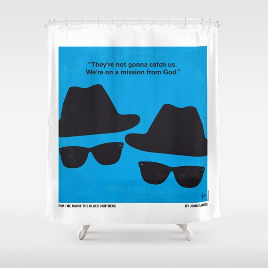 No012 My Blues brothers minimal movie poster Shower Curtain