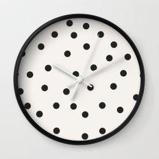 vintage dots 1 Wall Clock