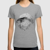 Bald Eagle (Cracked series) Womens Fitted Tee Tri-Grey SMALL