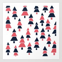Forrest Pattern Art Print