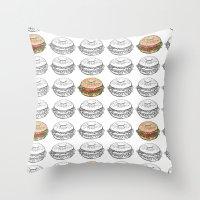 Bagel Sandwich Throw Pillow