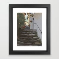 Italian Street and Stairs  Framed Art Print
